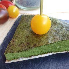 Tortilla de espinacas y tofu: Hoy os quiero mostrar una combinación deliciosa y con una textura muy delicada