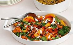 THIS recipe for roasted butternut with red chilli, yoghurt and caramelised pumpkin seeds is great at a braai or for a vegetable dish with a difference. Serves six.