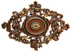 Fine Art Deco in. Vines Garden, Bronze, Gold and Copper Polyurethane Hand Painted Ceiling Medallion kupfer Fine Art Deco in. Vines Garden, Bronze, Gold and Copper Polyurethane Hand Painted Ceiling - The Home Depot Ceiling Tiles, Ceiling Design, Ceiling Lights, Ceiling Fans, Bronze Gold, Art Deco, Art Nouveau, Wall Ornaments, Ceiling Medallions