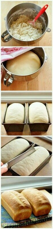 White Sandwich Bread How to Make Basic White Sandwich Bread. guess I've got to make this from now on since it's such an easy recipe.How to Make Basic White Sandwich Bread. guess I've got to make this from now on since it's such an easy recipe. Bread Recipes, Baking Recipes, Quick Recipes, Bread And Pastries, Cookies, Bread Baking, Bread Food, Food Food, I Love Food