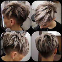 Pixie Bob Haircut, Short Pixie Haircuts, Short Hair Cuts, Short Hair Styles, Undercut Pixie Cut, Pixie Hairstyles For Thick Hair Undercut, Undercut Women, Short Hair Undercut, Hairstyle Short