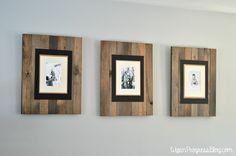 DIY Rustic Faux Pallet Picture Frame | WifeinProgressBlog.com