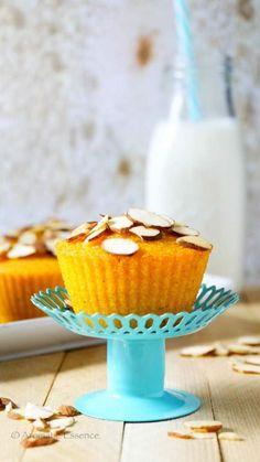 Pictorial recipe to make eggless mango semolina cupcakes. How to make eggless mango semolina cupcake. Mango Cupcakes, Mango Cake, Eggless Desserts, Eggless Baking, Vegan Baking, Vegan Desserts, Cupcake Recipes, Cupcake Cakes, Dessert Recipes