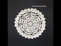 How to Crochet a Doily Pattern #142│by ThePatternfamily - YouTube