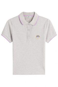 Kenzo Kenzo Poloshirt aus Baumwolle – Grau