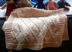 Babycakes Baby Blanket By Amelia Lyon - Purchased Knitted Pattern - (ravelry)