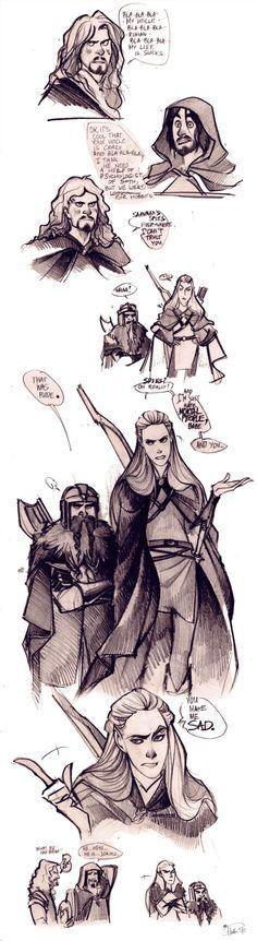 Phobs. The Fellowship meet Faramir and sass ensues.