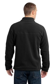 Eddie Bauer - Wind Resistant Full-Zip Fleece Jacket Style EB230 Black Back
