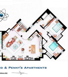 L'appartement de Sheldon et Leonard de The Big Bang Theory