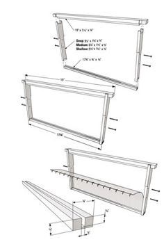 The following tables break down the various Langstroth frames into their individual components and provide instructions on how to cut those components for deep, medium, and shallow frames. Lumber in a store is identified by its nominal size, which is its rough dimension before it's trimmed and sanded to its finished size at the lumber …