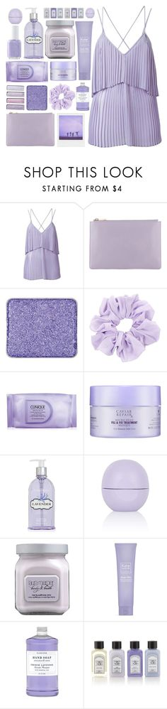 """The Brightside"" by kara-burke ❤ liked on Polyvore featuring Elie Saab, shu uemura, Essie, Clinique, Alterna, Crabtree & Evelyn, Topshop, Laura Mercier, Kate Somerville and Williams-Sonoma"