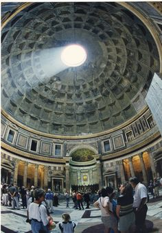 The Pantheon is the best preserved Roman monument, it was constructed by Agrippa in 27 B.C. and rebuilt by Hadrian in A.D. 117-125. In A.D. 608 it was transformed into a Christian church. It contains the tombs of Vittorio Emanuele and the great painter Raphael.