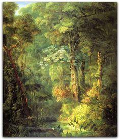 Rugendas - Paisagem da selva tropical brasileira,1831 Thurn und Taxis, Ratisbona  http://sergiozeiger.tumblr.com/post/115121479688/johann-moritz-rugendas-augsburgo-29-de-marco-de  Esse óleo foi pintado por Rugendas nos últimos meses que passou em Paris, antes de embarcar rumo ao México, em março de 1831.   As referências documentais nos levam a pensar que, pouco antes de partir para a América, deixou encaminhado o envio à Alemanha; seu destino era a casa do príncipe de Thurn und Taxis. que…