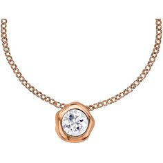 Dower & Hall 18ct Vermeil Topaz Pendant Necklace , Rose Gold (8.385 RUB) ❤ liked on Polyvore featuring jewelry, necklaces, rose gold, topaz pendant necklace, short necklaces, pendant necklace, chain necklace and drop pendant necklace