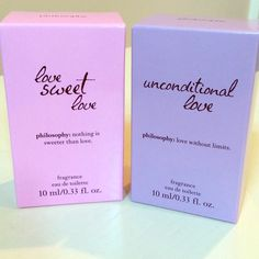 Philosophy Unconditional Love & Love Sweet Love  Philosophy's Love themed scents perfume bundle including: Love Sweet Love and Unconditional Love  Philosophy Makeup