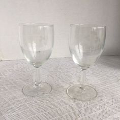 Irish Coffee Wine Glasses / Vintage Irish Coffee Glassware / Etched Shamrocks Stemware Made in France by vintagepoetic on Etsy