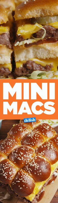These Mini Macs are basically McDonald's Big Mac sliders. Get the recipes on Delish.com.