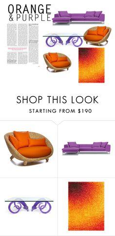"""Orange and purple"" by swagger652 ❤ liked on Polyvore featuring interior, interiors, interior design, home, home decor, interior decorating, Jonathan Adler, Dot & Bo, colorchallenge and orangeandpurple"