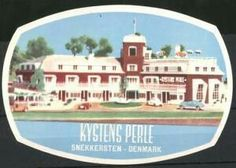 Snekkersten, Hotel Kystens Perle, Autos vor Hotelgebäude Luggage Stickers, Back In The Day, Denmark, Mansions, House Styles, Places, Home Decor, Autos, Decoration Home