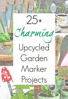 Plant markers or plant labels MIGHT not be something your garden needs, but they are definitely something your garden wants! And this amazing collection of upcycling ideas for garden markers that Sadie Seasongoods compiled is exactly the crafty inspiration you
