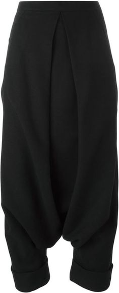 Masnada drop crotch trousers