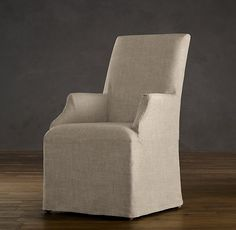 DINING: 2 for Head of table ?  Hudson Parsons Slipcovered Armchair