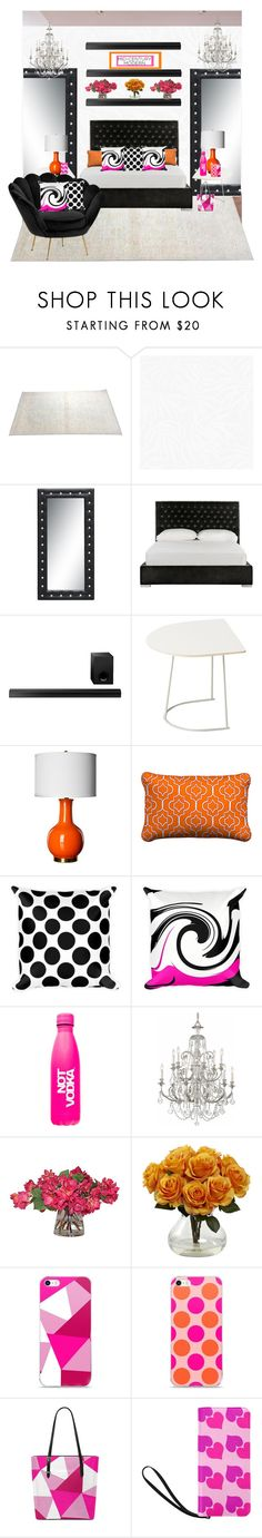 """The Bedroom"" by atelier-briella ❤ liked on Polyvore featuring interior, interiors, interior design, home, home decor, interior decorating, Safavieh, Sony, Muuto and Improvements"