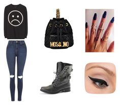 """""""Sin título #55"""" by candelacruztorres on Polyvore featuring moda, Topshop, Marc by Marc Jacobs, Moschino y LORAC"""