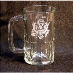 Engraved service beer mug.  $15.00