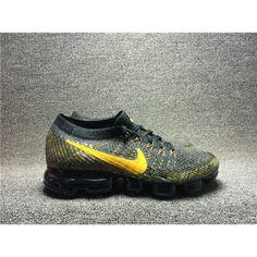 huge discount 981e3 5ab6e Běžecké Boty Nike Pánské - Horký Nike Air Vapormax Flyknit Šedá Žlutý  Běžecké Boty