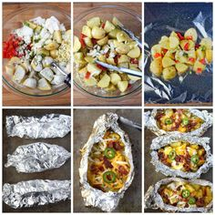 Bacon Ranch Foil Wrapped Potatoes - Butter Your Biscuit