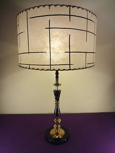 I have a love affair with vintage lamps/lampshades.