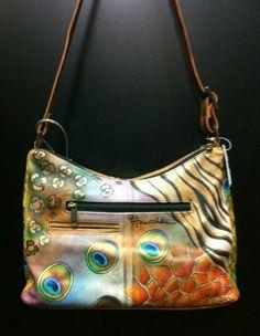 Anuschka beautiful painted purse.
