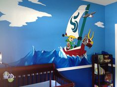 For Your Geeky Baby: The Legend Of Zelda Nursery. Oh my god. When I have a kid, this will be their room. No doubt.