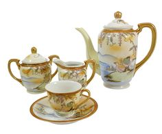 Antique Fairy Land Tea Set China Hand Painted Japan by WhatnotGems