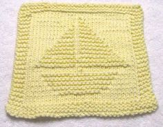 Knitting Cloth Pattern SAILBOAT PDF by ezcareknits on Etsy