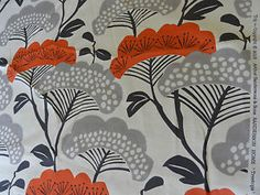 "SANDERSON ""TREE TOPS"" 5.2 metre JAPANESE retro designer curtain ..."