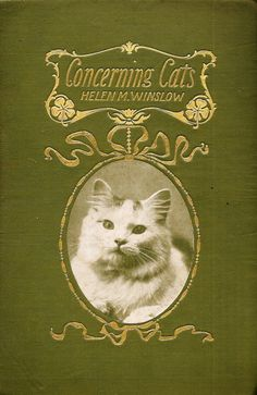 """""""Concerning Cats"""" by Helen M. Winslow - book cover"""