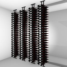 Floor-to-Ceiling | Metal Floor Standing Wine Rack - Ultra Wine Racks Wood Wall Wine Rack, Wine Wall, Wall Racks, Standing Wine Rack, Wine Rack Design, Wine Bottle Storage, Metal Floor, Wine Collection, Easter Bunny Decorations