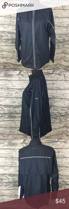 NWT Nike Clima Fit Track Jacket Reflective Running Woman's size large wonder breaker zip up. Reflective 3m technology for visibility while running. Adjustable waist. NWT! Nike Jackets & Coats
