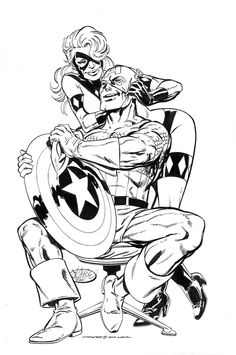 Captain America and Diamondback by John Byrne