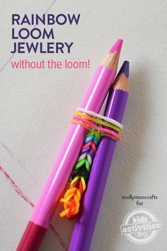 Make Rainbow Loom Jewelry Without The Loom - simple for beginners. By MollyMooCrafts.com for #KidsActivitiesBlog