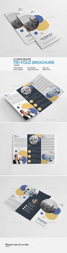 Corporate Tri-Fold Brochure Template PSD