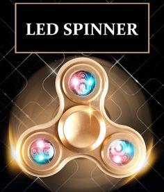 [~$18] Figit Spinner-Factory Price. Figit Tri-spinner Antistres Game Fidget Finger LED Metal Hand Stres Carki Spinners As Antistress Cube Stress Wheel Spiner Toys
