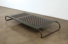 Add some tempered glass on top and you've got an awesome coffee table for the extension Mona Hatoum.