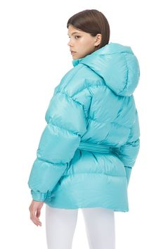 Buy IENKI IENKI Michlin Sky Blue Jacket at the official online store.The hottest winter jackets this fall. Down Puffer Coat, Down Coat, Deep Winter, Puffy Jacket, Duck Down, Jacket Style, Jackets For Women, Winter Jackets, Female