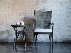 Krzesło rattanowe Melody. Sika-Design. Meble rattanowe w modnym kolorze Taupe.