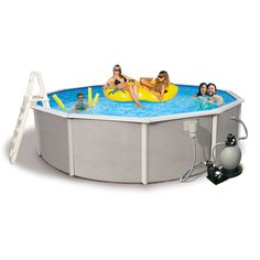 Invest in the high quality Belize 6-inch top rail steel pool package and give you and your family many years of fun in the sun! Manufactured by a leading above ground pool company, this pool combines excellent quality with a very affordable price.