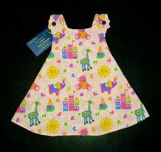 Reversible Handmade Baby Dress Easter Dress by PearlsHomespun Baby Girl Items, Reversible Dress, Little Girl Outfits, Easter Dress, Handmade Baby, Vintage Prints, Baby Dress, Pink Animals, Summer Dresses