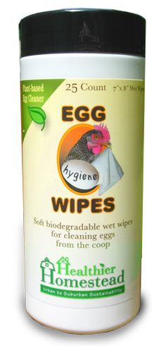 Egg Wipes - wet wipes for cleaning eggs from the coop | garden-guys.com